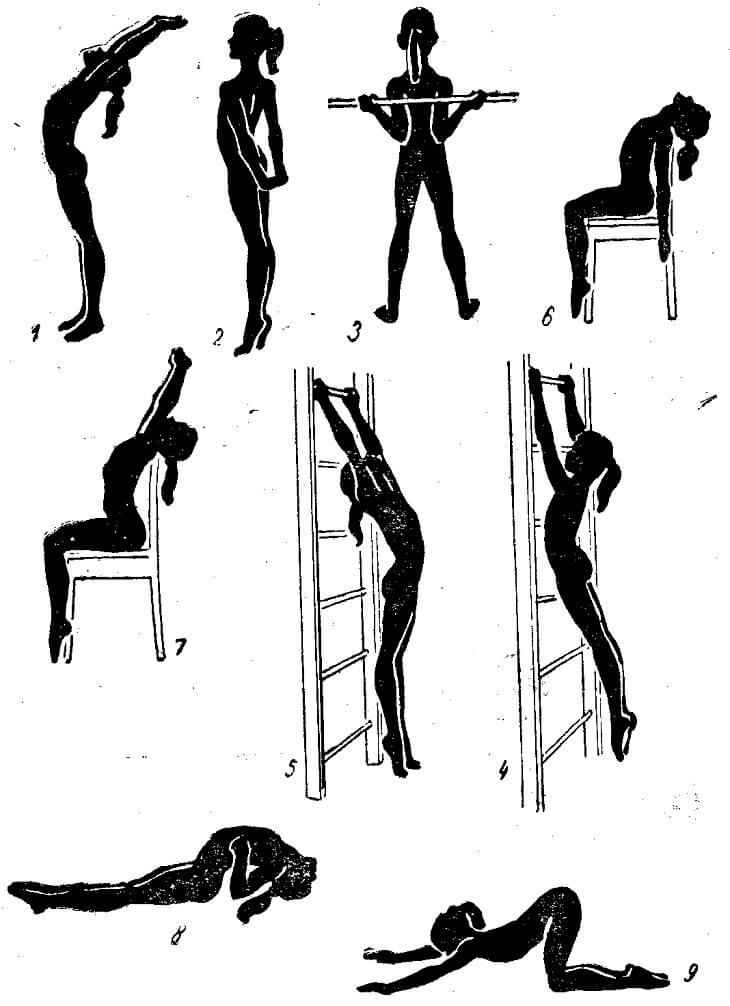 Упражнения для профилактики остеохондроза спины